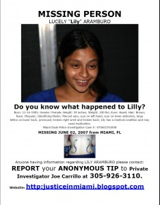 Lilly Aramburo Missing South Florida mother